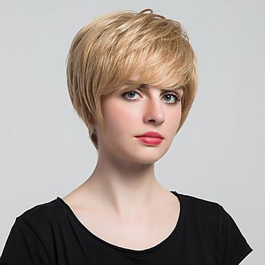 Menschliches Haar Capless Perücken Rabenschwarz Medium Auburn / Bleach Blond Gute Qualität Klassisch Natürlich gewellt Alltag