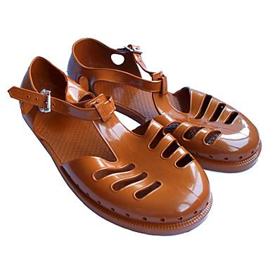 Miehet kengät PP (polypropeeni) Kesä Comfort Sandaalit varten Kausaliteetti Kahvi