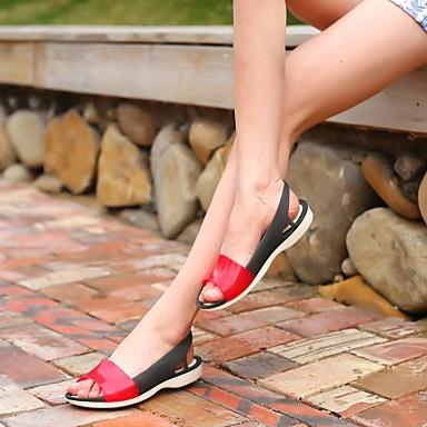Damen Sandalen Fersenriemen Sommer Gummi Normal Flacher Absatz Schwarz Grün Blau 2,5 - 4,5 cm