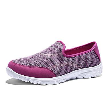 Mulheres Sapatos Materiais Customizados Tecido Primavera Outono Conforto Tênis Caminhada Sem Salto Ponta Redonda Combinação para Casual