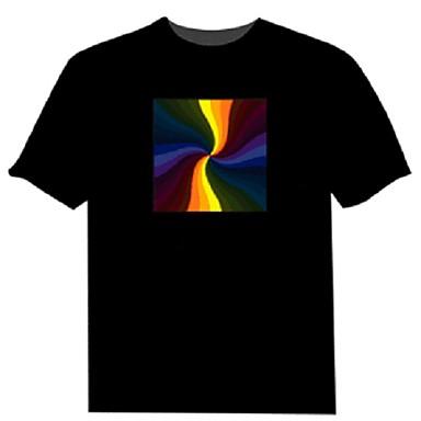 geführt t-shirts elektrolumineszierende reine Baumwolle Partei 2 AAA Batterien