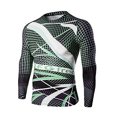 Fahrradtrikot Herrn Langarm Fahhrad T-shirt Sweatshirt Oberteile Atmungsaktiv Komfortabel Sport Print Sommer Übung & Fitness Freizeit