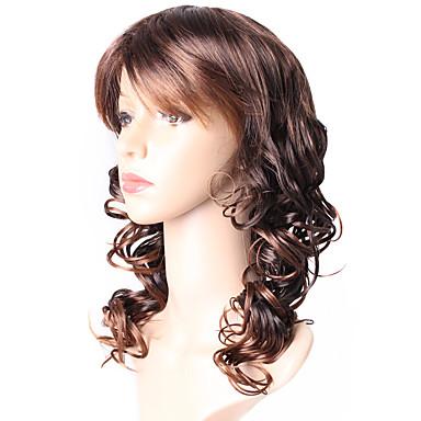 Damen Synthetische Perücken Lang Lose gewellt Schwarz / Medium Auburn Gefärbte Haarspitzen (Ombré Hair) Natürliche Perücke Kostümperücke