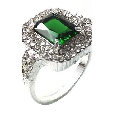 Miesten Sormus Synteettinen Emerald Uniikki Muoti Euramerican Smaragdi Metalliseos Korut Korut Käyttötarkoitus Häät Erikoistilaisuus