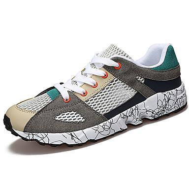 Homens sapatos Couro Ecológico Primavera Verão Conforto Tênis Caminhada para Atlético Preto Vermelho Verde