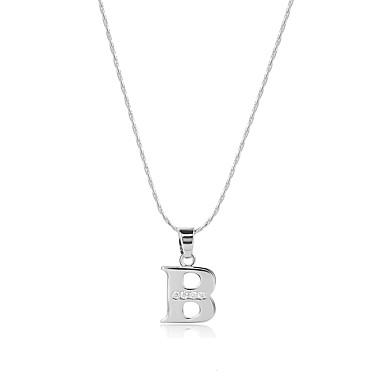 Pánské / Dámské Alphabet Shape Kubický zirkon Zirkon Náhrdelníky s přívěšky - Logo / Cikánské / Spojené státy Stříbrná Náhrdelníky Pro