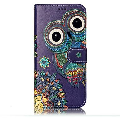 Capinha Para Samsung Galaxy S8 Plus / S8 Carteira / Porta-Cartão / Com Suporte Capa Proteção Completa Corujas Rígida PU Leather para S8 Plus / S8 / S7 edge
