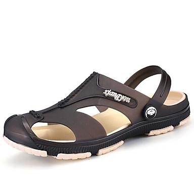 Miehet Kengät Kumi Kevät Comfort Sandaalit Käyttötarkoitus Kausaliteetti Musta Vihreä Sininen
