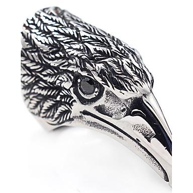 Pánské Prsten Kubický zirkon Zvířecí Klasické Velké šperky Nerez Ptáček Šperky Vánoční dárky Halloween Dar