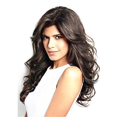 Damen Echthaar Perücken mit Spitze Haare mit intakter Kutikula (Remy Hair) Vollspitze Spitzenfront 120% 130% Dichte Wellig Perücke