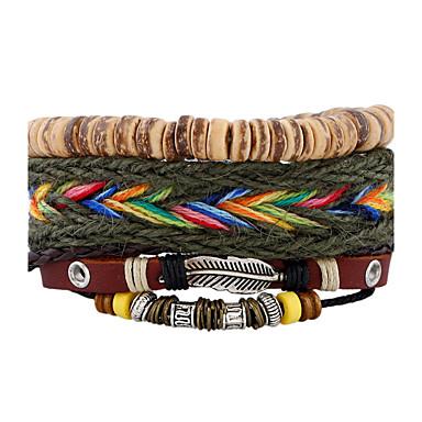 Pánské Dámské Kožené náramky Módní bižuterie Kožené Geometric Shape Šperky Pro Svatební Párty Sport