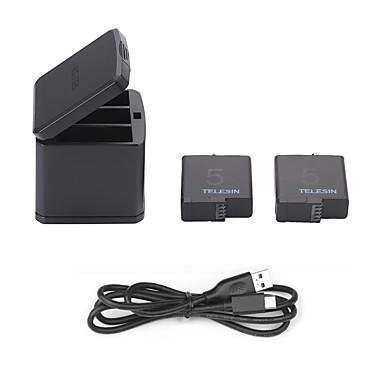 Bateria Cabo Carregadores Exterior USB Fácil de Transportar Folio Tudo em um Carregamento Rápido Para Câmara de Acção Gopro 5 Acampar e