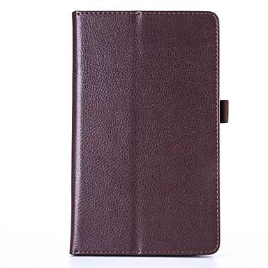 Capinha Para Capa Proteção Completa / Tablet Cases Sólido Rígida PU Leather para