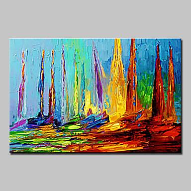 Pintura a Óleo Pintados à mão - Paisagem Modern / Estilo Europeu Tela de pintura / Lona esticada