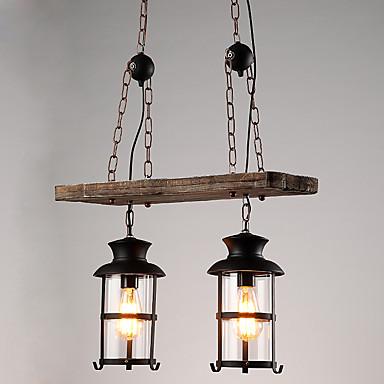 2-Light Pendant Light Downlight - Mini Style, 110-120V / 220-240V Bulb Not Included / 15-20㎡ / E26 / E27