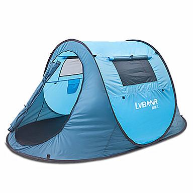 1 Pessoa Tenda Duplo Barraca de acampamento Ao ar livre Barraca pop-up Á Prova de Humidade Prova-de-Água Á Prova-de-Chuva para Campismo