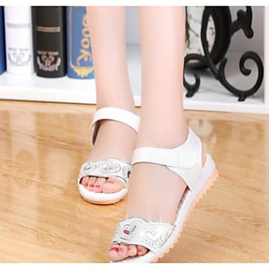 Naiset Kengät PU Kevät Sandaalit Käyttötarkoitus Valkoinen Sininen Pinkki
