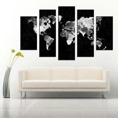 Gerollte Leinwand Abstrakt Modern, Fünf Panele Horizontal Druck Wand Dekoration Haus Dekoration