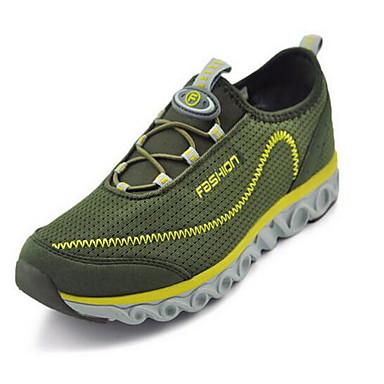 Homens sapatos Tecido Primavera Verão Conforto Tênis Caminhada Elástico para Casual Ao ar livre Cinzento Verde