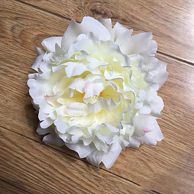 5 Ramo Poliéster Plástico Peônias Flor de Mesa Flores artificiais