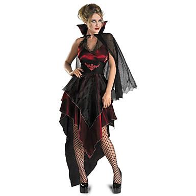 Vampiros Disfrace de Cosplay Ropa de Fiesta Mujer Navidad Halloween Carnaval Festival / Celebración Disfraces de Halloween Accesorios Rojo / negro Cosecha