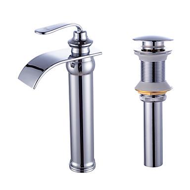 Faucet Set - Cascata Galvanizar Conjunto Central Uma Abertura