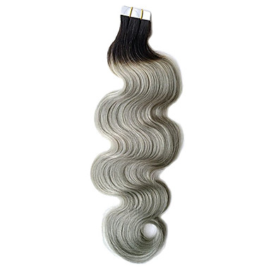 Tape In Human Hair Extensions Body Wave 40Pcs/Pack 16 inch 18 inch 20 inch 22 inch 24 inch