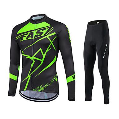 Fastcute Homens / Mulheres Manga Longa Calça com Camisa para Ciclismo - Preto Moto Calças / Camisa / Roupas Para Esporte / Meia-calça,