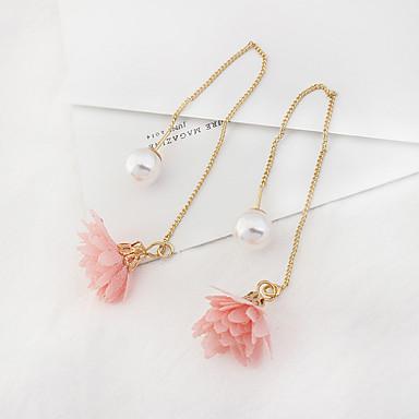 Damen Tropfen-Ohrringe Imitierte Perlen Modisch Euramerican Modeschmuck Aleación Blumenform Schmuck Für Alltag Normal