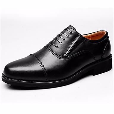 Miehet kengät Nahka Kevät Syksy muodollinen Kengät Oxford-kengät varten Musta