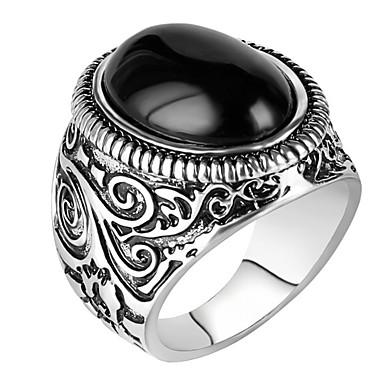 Herrn Statementringe Ring Personalisiert Luxus Einzigartiges Design Retro Modisch Euramerican Schmuck mit Aussage Harz Aleación