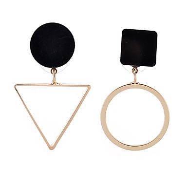 Mulheres Boêmio Prata Chapeada Chapeado Dourado Brincos Compridos - Personalizada Geométrico Pingente Clássico Vintage Boêmio Formais