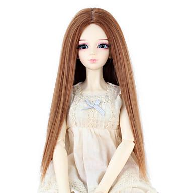 Synteettiset peruukit Suora Naisten Doll Wig Synteettiset hiukset