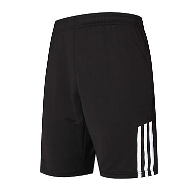 Herre Shorts til jogging Fort Tørring Løp Løper Trening & Fitness Basketball Løstsittende Svart