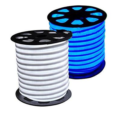 HKV Flexible LED Light Strips 300 LEDs Warm White White Blue Cuttable Waterproof 220V 110V