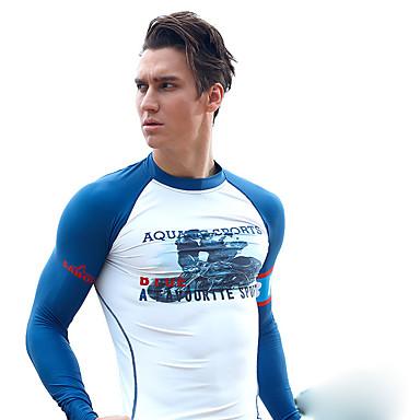 SABOLAY Men's Diving Rash Guard Boating Ultraviolet Resistant Elastane Terylene Long Sleeves Top Swimming