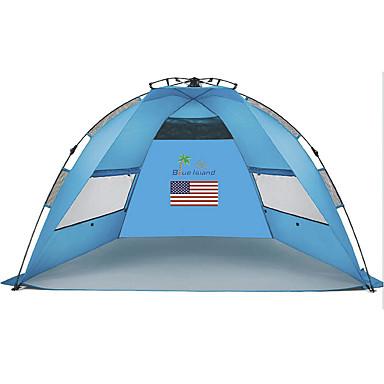 2 personer Telt Lytelt Enkelt camping Tent Ett Rom Automatisk Telt Ultraviolet Motstandsdyktig Regn-sikker Støvtett til Camping &