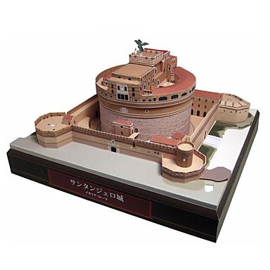 Quebra-Cabeças 3D Maquetes de Papel Brinquedos de Montar Quadrada Castelo Construções Famosas Arquitetura Faça Você Mesmo Cartão de Papel