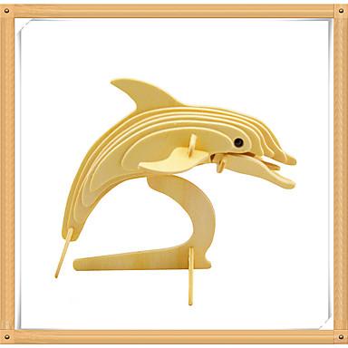 voordelige 3D-puzzels-3D-puzzels Legpuzzel Modelbouwsets Dolfijn Vissen Dieren DHZ Puinen Kinderen Speeltjes Geschenk