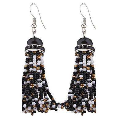 Dame Dråpeøreringer Smykker Imitert Perle Oversized Sølvplett EVA Resin Legering Geometrisk Form Smykker Til Hverdag Avslappet Formell