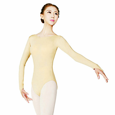 Ballet Leotards Women's Training Polyester Long Sleeves High Leotard / Onesie