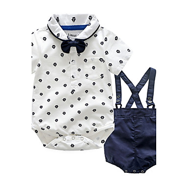 Baby Children's Party / Evening Outdoor Casual/Daily Going out Holiday Polka Dot Clothing Set, Cotton Autumn/Fall Summer Dresswear Short