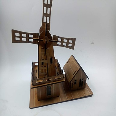3D Puzzles Jigsaw Puzzle Windmill Windmill Famous buildings House Wood Kid's Boys' Unisex Gift