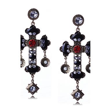 Women's Tassel Drop Earrings Pendant Dangle Earrings - Cross, Drop Statement, Personalized, Luxury As per Picture For Christmas Christmas Gifts Wedding