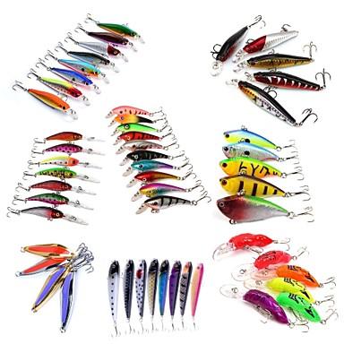 53 pcs Hard Bait Metal Bait Swimbaits Minnow Crank Pencil Vibration/VIB Lure kits Fishing Lures Crank Pencil Vibration/VIB Metal Bait