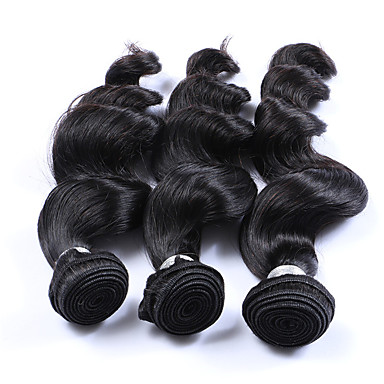 Brazilian Loose Wave Human Hair Weaves 3 Pieces 3 Pieces 0.3