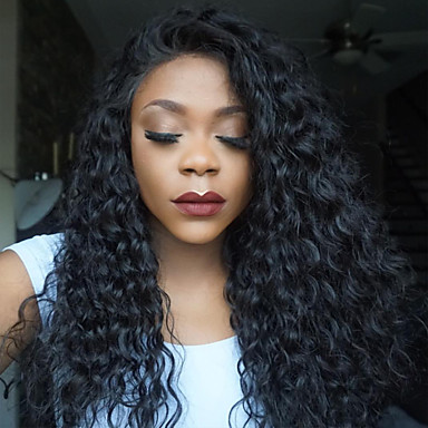 100% Human Vigin Hair Full Lace Wigs 150% Density Peruvian Deep Curly Full Lace Human Hair Wigs Glueless Human Hair Lace Front Wigs For Black Women