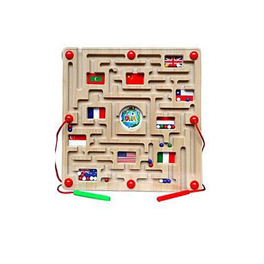 Maze Magnetic Maze Toy Flat Shape Magnetic Wood Kid's Gift 1pcs