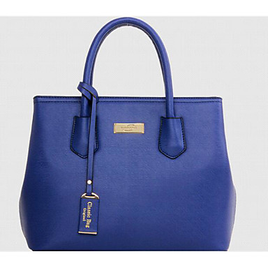 Women Bags All Seasons PU Tote for Casual Outdoor Blue Black Red