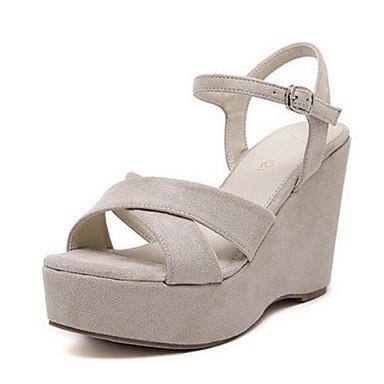Naiset Kengät Nukkainen Kevät Comfort Sandaalit Käyttötarkoitus Kausaliteetti Musta Manteli
